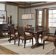 Rustic retreat living with an urban touch, the Emerald Home Crystal Ridge Dining Table is a stunning choice for your dining room. This elegant table. Trestle Dining Tables, Dining Set, Dining Room Table, Dining Bench, Dining Rooms, Rustic White, White Oak, Wood Table, House