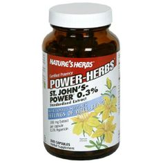 Nature's Herbs Power-Herbs St. John's Powder 0.3%, Standardized Extract, Capsules , 180 capsules by Nature's Herbs. Save 38 Off!. $18.69. Herbal supplement. Nutritionally supports feelings of well being (This product has not been evaluated by the Food and Drug Administration. This product is not intended to diagnose, treat, cure, or prevent any disease). 300 mg Extract per capsule. 0.3% Hypericin. Certified potency St. John's Powder 0.3% is the highest quality, most potent and mos...