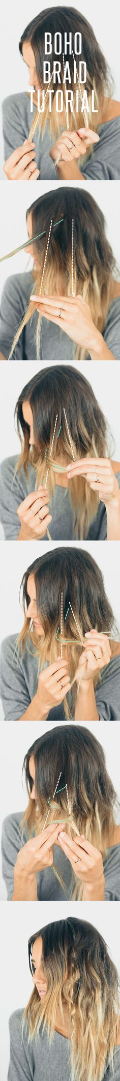 HAIR - BOHO BRAID TUTORIAL If you liked this pin, click now for more details. Boho Hairstyles, Pretty Hairstyles, Pirate Hairstyles, Hairstyle Ideas, Wedding Hairstyles, Hairstyles Pictures, Hairstyle Tutorials, Hairstyles Haircuts, Corte Y Color