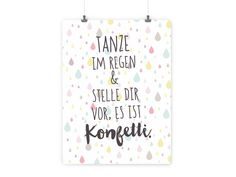"""Kunstdruck+A4+""""Tanze+im+Regen...""""+von+Frau+Schreibvogel+auf+DaWanda.com"""