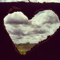 Sky and Sunset Love - Homemade Heart Frame