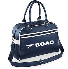 #Retro luxury vintage boac airways #bowling bag flight,gym,sports #holdall,pam am,  View more on the LINK: http://www.zeppy.io/product/gb/2/322013439487/