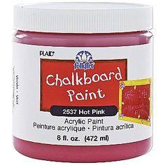 Plaid -Pink      -Chalkboard Paint 8Oz