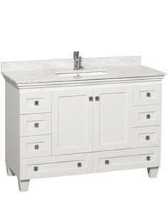 "48"" Acclaim Single Bath Vanity - White"
