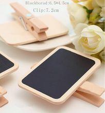 Granel coreana al por mayor Mini Pizarra de madera clips de papel pizarras lindas 20pcs(China (Mainland))