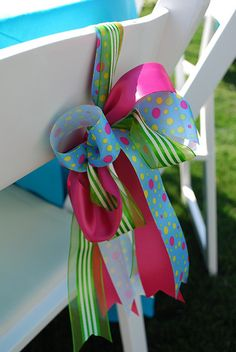 Easy Festive Ribbon Swag For Chairs !