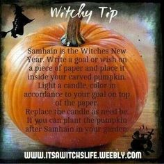 Pumpkins & Samhain…….Magickal Tips & Hints – Witches Of The Craft®