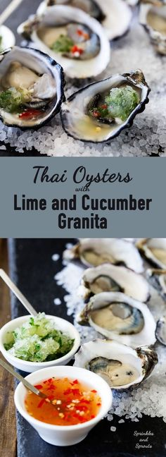 Thai Oysters with Lime and Cucumber Granita