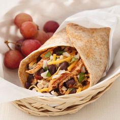 Healthified Chicken and Black Bean Burritos - Easy Healthy Recipes Using Leftovers - Shape Magazine
