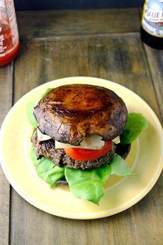 Bunless Portobello Burger