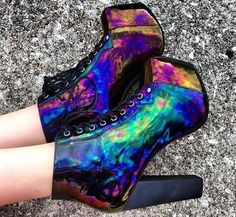 Oil slick Jeffrey Campbell shoes