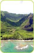 Limahuli Garden and Preserve is set in a verdant tropical valley on the north shore of the Hawaiian Island of Kaua.