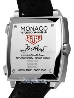 TAG Heuer Monaco Legend Steve McQueen LTD 40th anniversary CAW211A Released  in 2009 to commemorate the 0aee2865469b