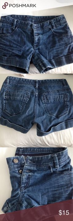 Express Rolled Up Jean Shorts Express Rolled Up Jean Shorts Size 10 Express Shorts Jean Shorts