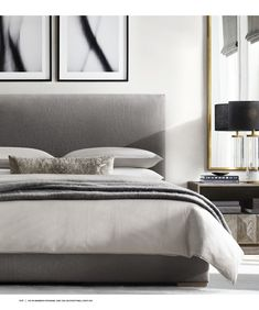 A Fair Perspective on Luxury Taupe Grey Bedroom Decor - fancyhomedecors Modern Bedroom Design, Modern Room, Bedroom Designs, Modern Grey Bedroom, Contemporary Bedroom Furniture, Design Room, Modern Living, Style At Home, White Bedroom