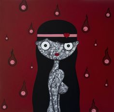 Like a Virgin | Graphite, Ink and Enamel on Canvas |Cm. 60x60x4,5| 2012| #Art #Arte