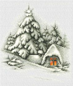 Buy Winter Landscape Cross Stitch Kit Online at www.sewandso.co.uk