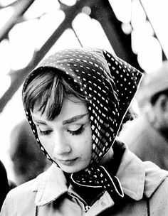 Audrey Hepburn on the set of Funny face 1957