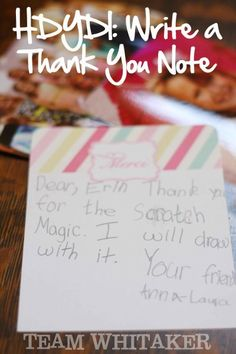 Fresh Designs Kids Thank You Notes  Note Cards And Craft