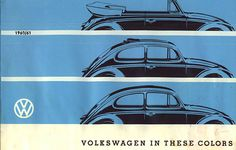1960/61 VW Beetle / Kever / Bug Colors