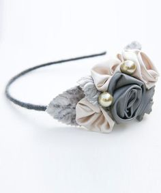 ribbon flower headband