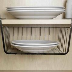 Create more storage space below solid shelves instantly by using this Home Basics Small Equinox Under Shelf Basket. Kitchen Organizer Rack, Door Organizer, Kitchen Cabinet Organization, Kitchen Cabinets, Cabinet Organizers, Storage Organization, Kitchen Pantry, Diy Kitchen, Organization Ideas