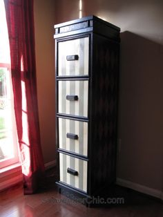 Painted File Cabinet, File Cabinet Makeover-