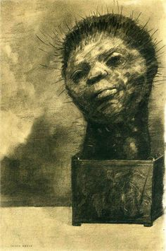 Page: Cactus Man Artist: Odilon Redon Completion Date: 1882 Style: Symbolism Genre: symbolic painting Technique: charcoal Material: paper Di...