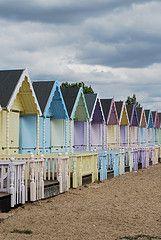 Mersea Island beach huts
