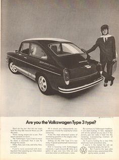 Volkswagen Type 3, Volkswagen Karmann Ghia, Car Advertising, Old Ads, Retro Cars, Car Photos, Art Cars, Classic Cars, Time Magazine