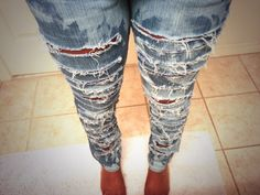 Ripped Acid Washed Jeans