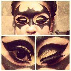 Dun na na na na na batman. Halloween makeup.