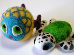 Sea Turtle and Fantasy Fish Felt Toys
