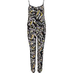 Black tribal print cami jumpsuit - jumpsuits - playsuits / jumpsuits - women