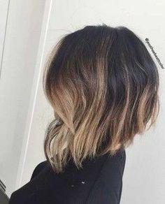 Trendy Balayage Inverted Bob Hairstyle