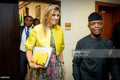 Queen Maxima of The Netherlands visits Vice President Yemi Osinbajoon November 1, 2017 in Abuja, Nigeria.