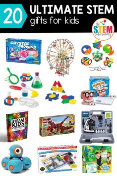 These are the best STEM gifts for kids! These also aren't ordinary gift ideas - they're fun, interactive, and kids will learn about science, technology, engineering and math! If you're looking for a unqiue gift idea for kids then add these to your Christmas list. #giftguide #stemgifts #holidaygifts #giftsforkids #kidsgifts #uniquegifts Math Stem, Stem Science, Lego For Kids, Stem For Kids, Christmas Activities, Stem Activities, Stem Learning, Gifts For Kids, Engineering