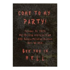 Halloween Tonic CHANGE COLOR - Invitations / RSVP