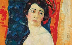Carmencita or earlier). Randolph S. Hewton (Canadian, Oil on canvas. Montreal Museum of Fine Arts. Hewton was interested in vivid colours and decorative effects, along with. Canadian Painters, Canadian Art, Beaver Hall, Montreal Museums, Female Painters, Expositions, Art For Art Sake, Museum Of Fine Arts, Figure Painting