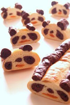 Panda bread!! I need to make this!