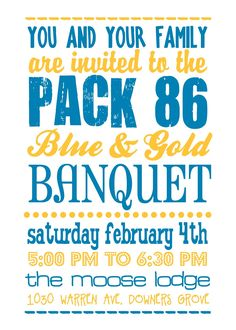 Blue and gold program template blue and gold invitation for Cub scout blue and gold program template