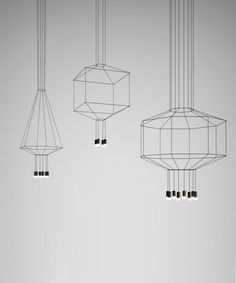 Buy online Wireflow lineal By vibia, led pendant lamp design Arik Levy, wireflow lineal Collection Interior Lighting, Modern Lighting, Lighting Design, Light Art, Lamp Light, Ceiling Lamp, Ceiling Lights, Geometric Lamp, Luminaire Design