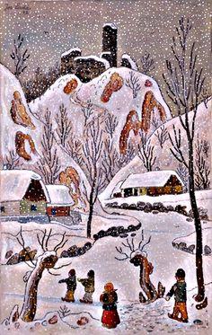 Zlenice in Winter, 1942
