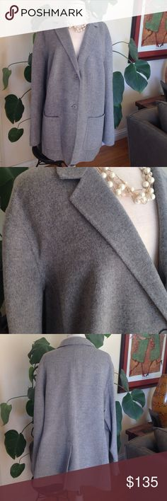 New Talbots Gray Wool Blend Coat Talbots Woman Gray Jacket. The Grace Fit. Size 24 W. Material: 90% wool, 10% nylon. CA#23147. New with tags! Talbots Jackets & Coats