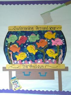 summer birthday bulletin board   Pre-school...b-day summer wall decorPre Schools B Day Summer, Summer ...