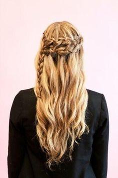 half up, half down hairstyle