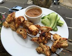 Oh wow I just made these chicken skewers with peanut satay One of the tastiest things I've ever made Hit like if you want me to post the #leanin15 video recipe