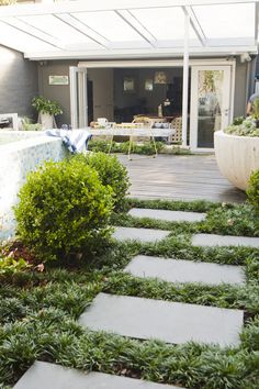 Having a pool sounds awesome especially if you are working with the best backyard pool landscaping ideas there is. How you design a proper backyard with a pool matters. Back Gardens, Outdoor Gardens, Small City Garden, Dream Garden, Landscape Design, Garden Design, Garden Paving, Australian Garden, Home Landscaping