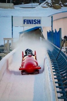 What it's like to go Olympic Bobsledding in Calgary at Winsport Canada Olympic Park. You can pay to do this. - http://www.theconstantrambler.com/olympic-bobsledding-cop-clagary-winsport/