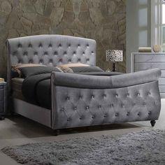 Best Grey Velvet Sleigh Bed 5927 Westheimer Houston 713 783 640 x 480
